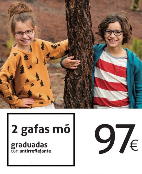 MULTIOPTICAS. 2 GAFAS MÔ GRADUADAS CON ANTIRREFLEJANTE 97€.