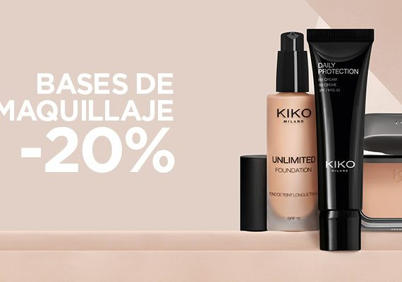 KIKO MILANO. BASES DE MAQUILLAJE -20%.