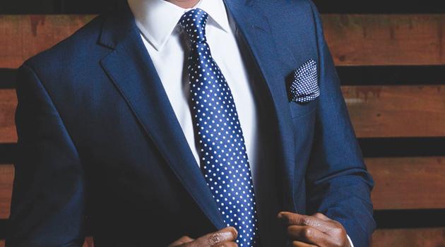 Corbata azul de Balbino Bernal