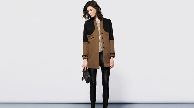 Abrigo marrón de mujer de MANGO