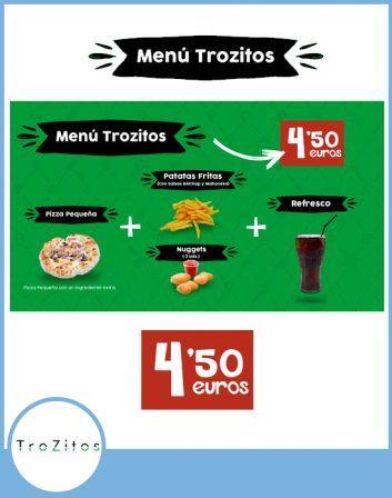 Menu trozitos po 4,50 euros en AireSur