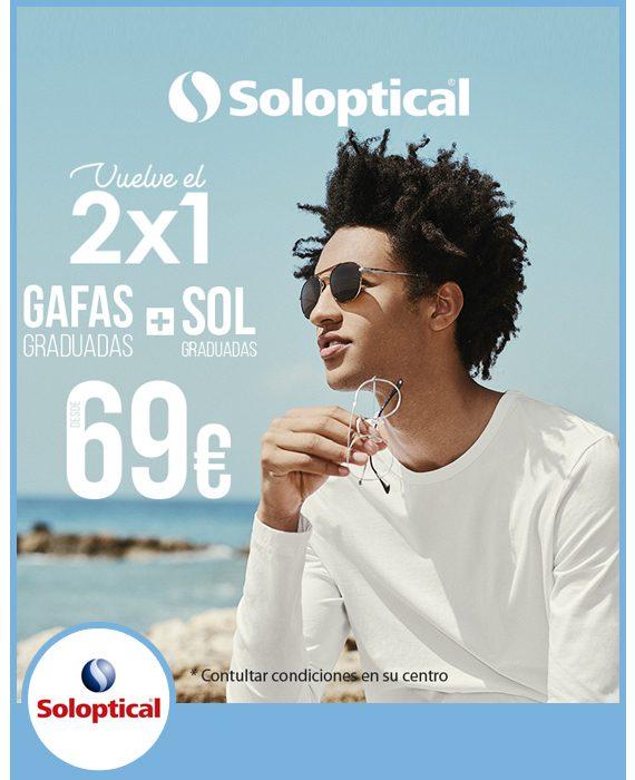 SOLOPTICAL - 2 x 1 gafas graduadas