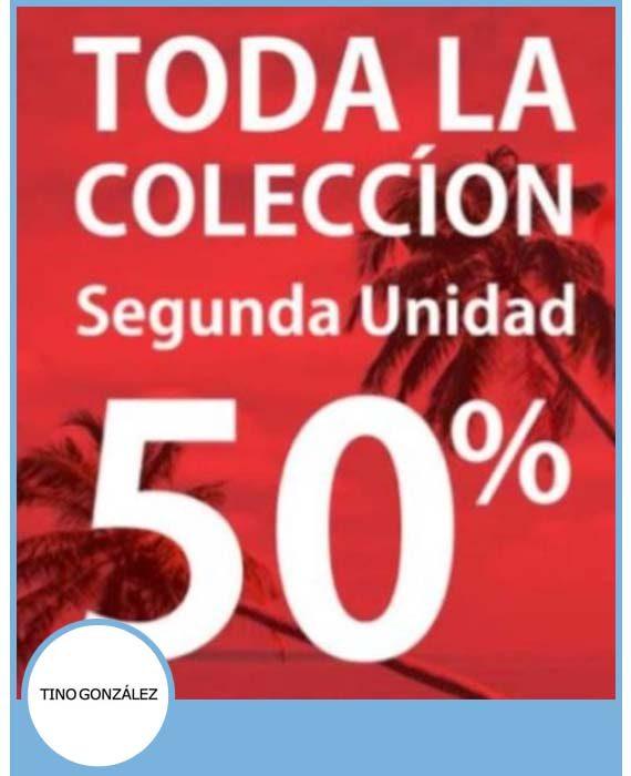 TINO GONZÁLEZ - 2ª UNIDAD 50% DE DESCUENTO. TODA LA COLECCIÓN.