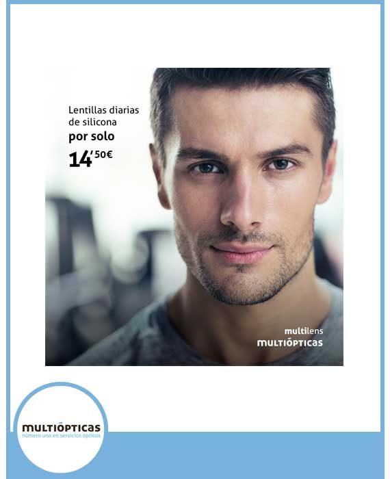 MULTIÓPTICAS - LENTILLAS DIARIAS SILICONA (30 UNIDADES) 14,50€