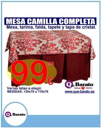 QUE BARATO – MESA CAMILLA COMPLETA 99,99€