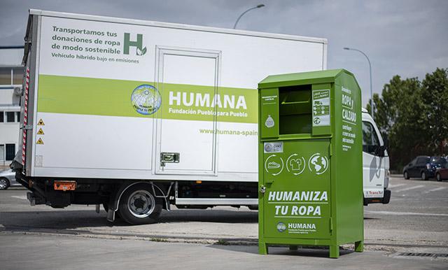 Humana recoge en AireSur 6 toneladas de textil usado