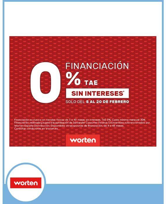 WORTEN - Financiación 0% TAE Sin Intereses.