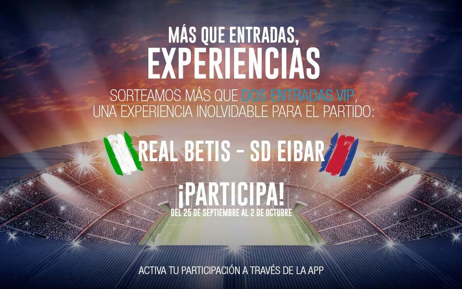 Sorteo Entradas Real Betis en Centro Comercial AireSur