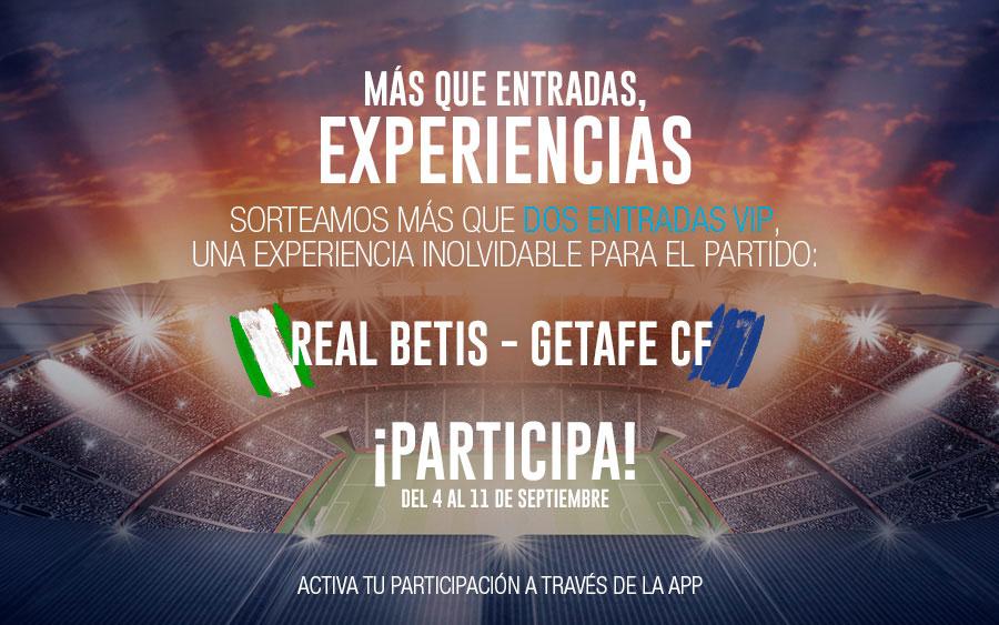 Experiencia VIP Betis - Gatafe