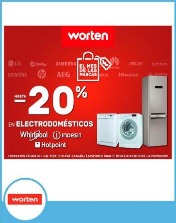 20% en electrodomésticos Whirlpool, Indesit y Hotpoint
