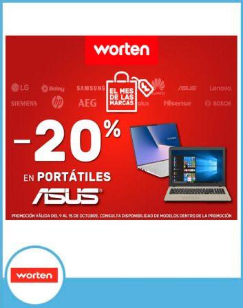 20% descuento portátiles ASUS