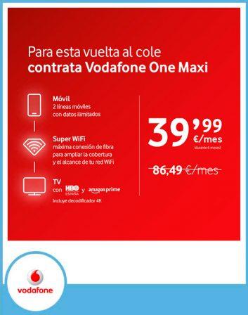 vuelta al cole Vodafone