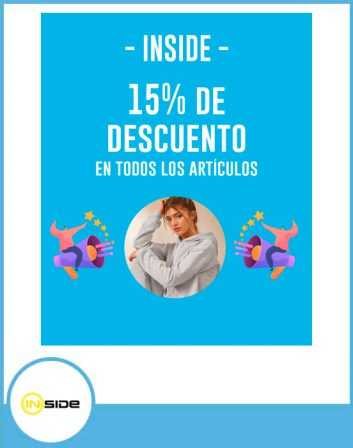 inside 15% de descuento