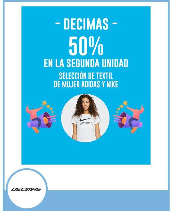 50% en la segunda unidad de textil mujer