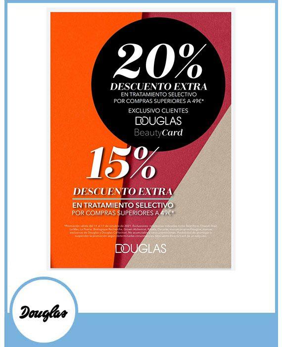 DOUGLAS:  20% DESCUENTO EXTRA